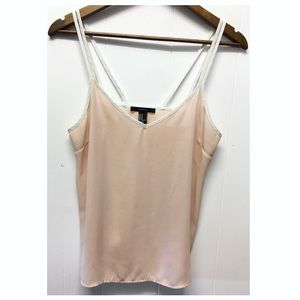 Forever 21 | Sheer Light Pink Double Strap Tank